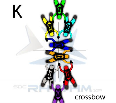 A crossbow formation